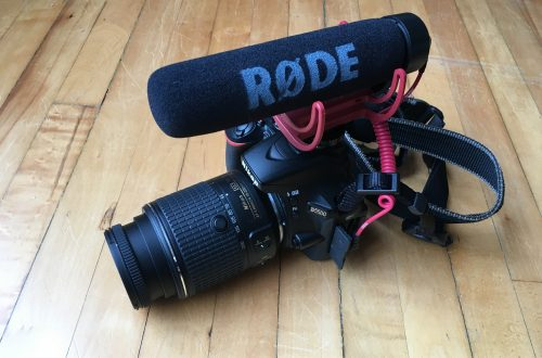 Rhode Light-Weight Shotgun Mic on Nikon D5500 Camera