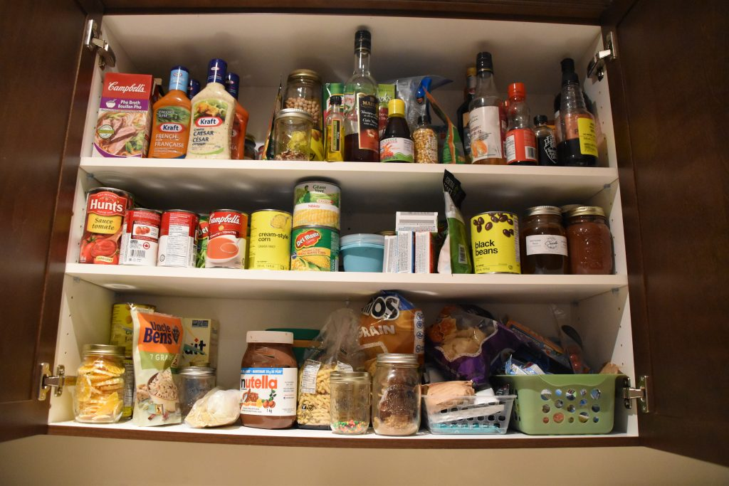 Pantry Stock Pile for Meal Plan