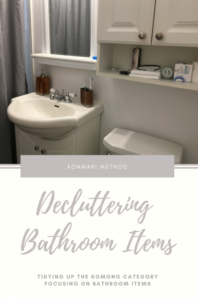 KonMari Method Decluttering Bathroom