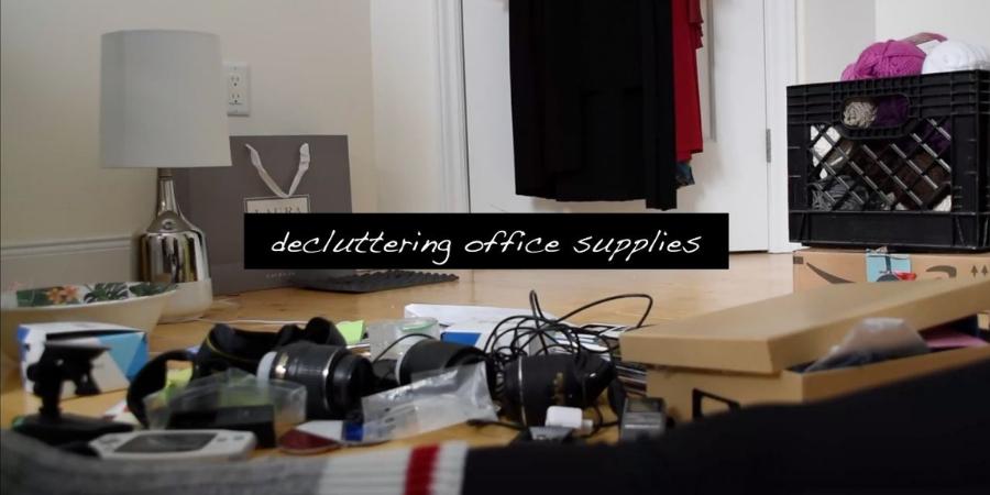 Decluttering Office Supplies KonMari Method