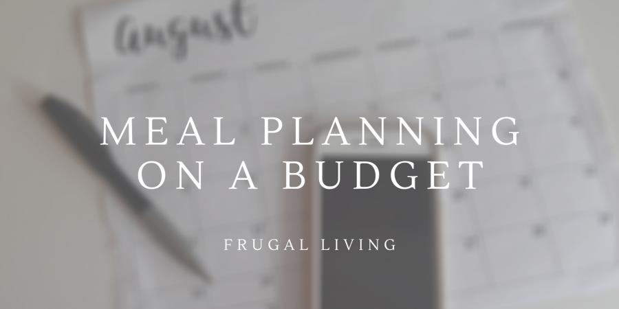 Budgeting Meal Plan